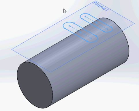 SolidWorks tutorials - the cylinder in isometric view