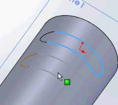 Solidworks tutorials - selecting the lines of the slot, to convert
