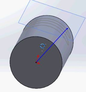 SolidWorks tutorials - our direction vector