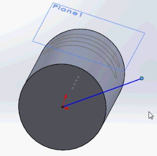 Solidworks tutorials - direction vector angle too large