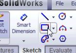 SolidWorks tutorials - the rectangle tool