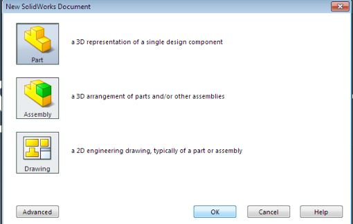 SolidWorks tutorials surface design for beginners - New Part document