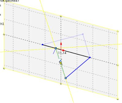 SolidWorks tutorials surface design for beginners - the second triangle