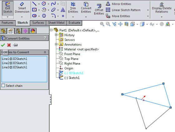 SolidWorks Surface Design Tutorials Basics - Convert Entities