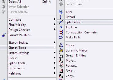 SolidWorks Surface Design Tutorials - split entities tool