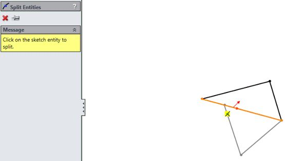 SolidWorks surface design tutorials for beginners - split line property manager