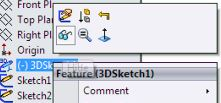 SolidWorks surface design tutorials for beginners - hide the sketch