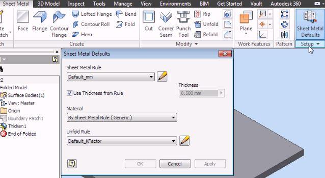 AutoDesk Inventor Training Sheet Metal