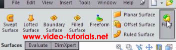 SOLIDWORKS basic surface design - fillet command