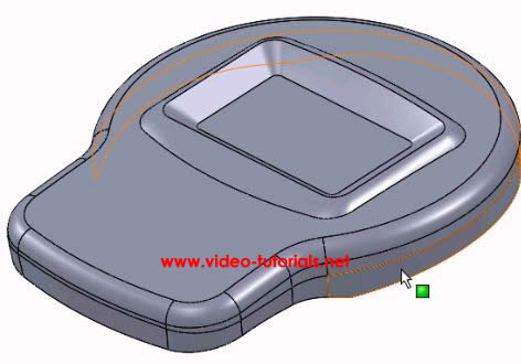 SOLIDWORKS basic surface design - next fillet completed