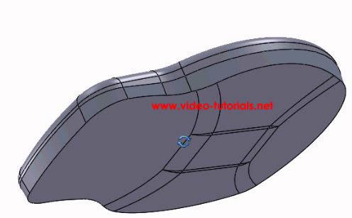 SOLIDWORKS basic surface design - third fillet completed