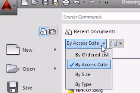 AutoCAD Beginner Training - The Application Menu Button Basics - get around AutoCAD quickly
