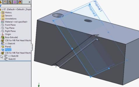 SOLIDWORKS beginner part modeling tutorials by Video-Tutorials.net