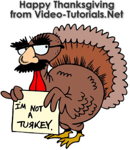 Black Friday savings! Happy Thanksgiving from Video-Tutorials.Net. Enter blackfriday at checkout to save 25% on all courses.