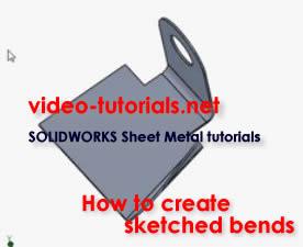 SOLIDWORKS sheet metal tutorials