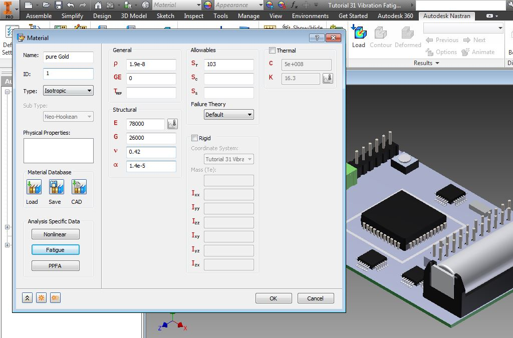 NASTRAN-in-CAD FEA Simulation - Materials Definition