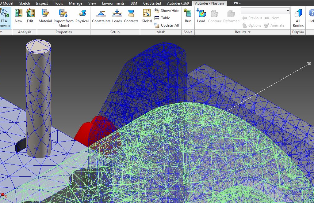 More about Nastran-in-CAD Mesh Detail