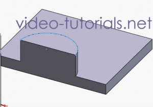 Fig 4 -fist cut- SOLIDWORKS cut features from open profiles