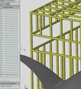 Shark Cage Test SOLIDWORKS Simulation