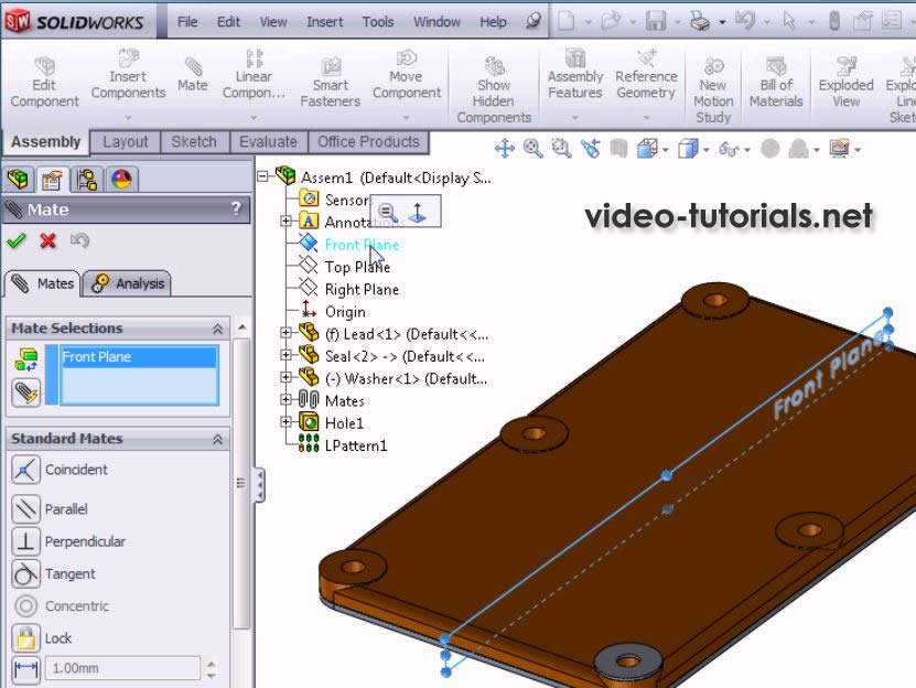 SOLIDWORKS Assembly design | Video-Tutorials Net